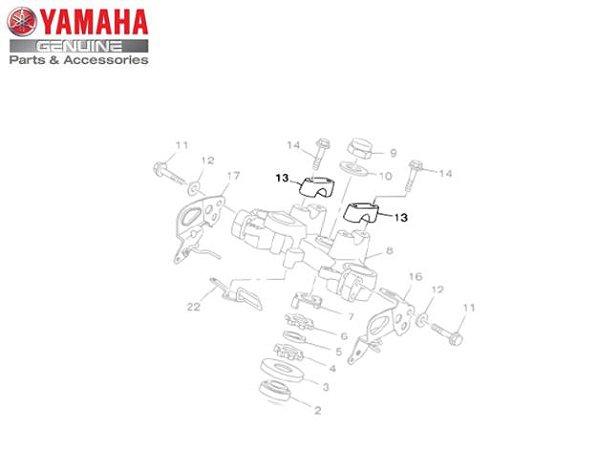 FIXADOR SUPERIOR DO GUIDAO PARA TTR-125 , TDM125 , XTZ125 E XTZ250 LANDER ORIGINAL YAMAHA