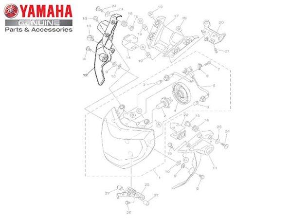 CARENAGEM DO FAROL PARA MT-09 ATÉ 2019 ORIGINAL YAMAHA