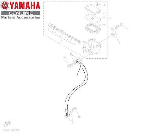MANGUEIRA DE FREIO PARA XVS650 DRAGSTAR ORIGINAL YAMAHA