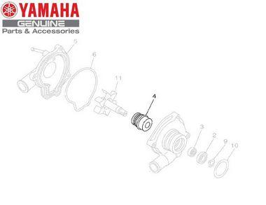VEDAÇÃO DO AUTOMÁTICO OU SELO DA BOMBA YZF-R1 2007 A 2013 ORIGINAL YAMAHA