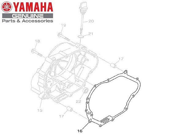 JUNTA DA TAMPA DIREITA DO MOTOR PARA CRYPTON 115 ORIGINAL YAMAHA
