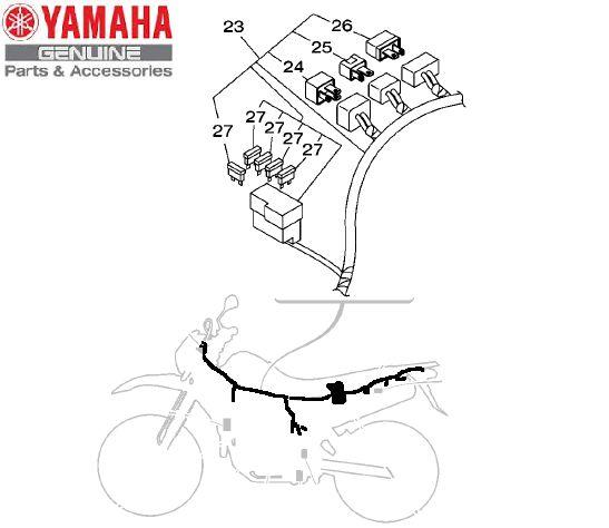 CHICOTE DE FIOS COMPLETO PARA LANDER 250 2009 A 2015 ORIGINAL YAMAHA