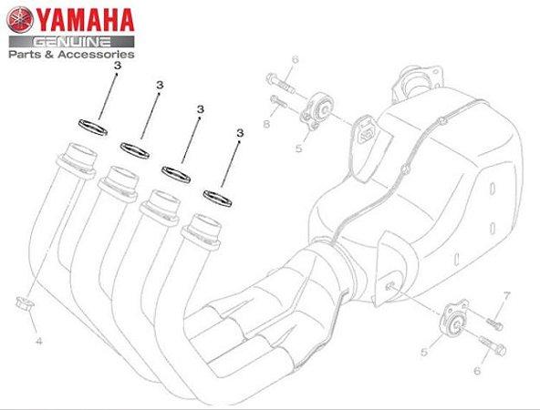 GAXETA DO TUBO DE ESCAPE PARA XJ6-N E XJ6-F 2010 A 2013 ORIGINAL YAMAHA