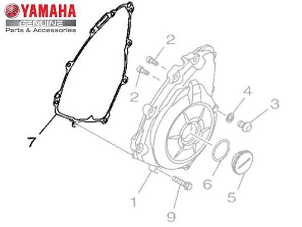 GAXETA OU JUNTA DA TAMPA ESQUERDA DO MOTOR PARA YZF-R3 E MT-03 ORIGINAL YAMAHA
