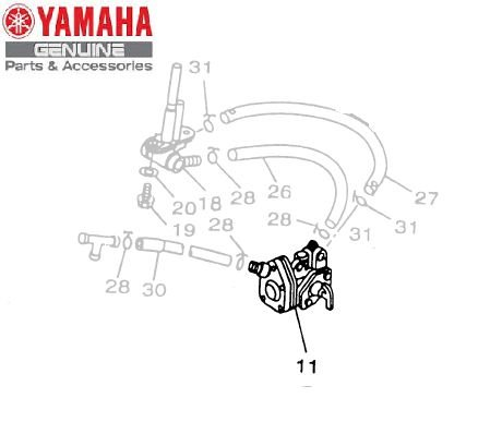 TORNEIRA DE COMBUSTIVEL CONJUNTO PARA XV250 VIRAGO ORIGINAL YAMAHA