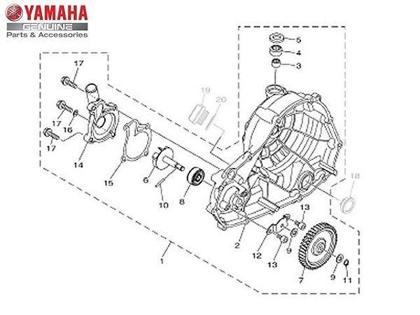 BOMBA DE AGUA COMPLETA PARA MT-03 E YZF R3 ORIGINAL YAMAHA
