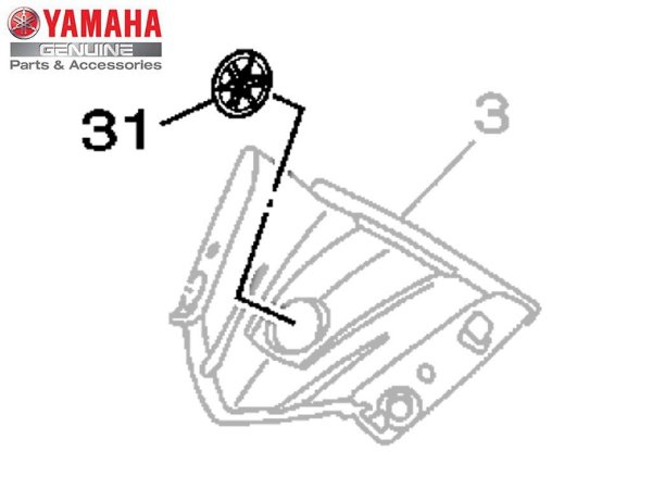 Emblema Diapasão Yamaha Original Yamaha YZF R3