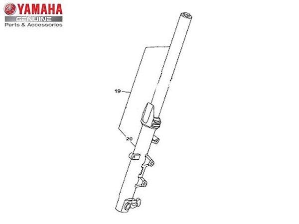 Garfo Dianteiro Direito Completo Yamaha YZF R3 e MT-03 Original