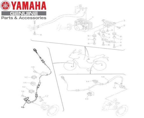 SENSOR DO ABS DA RODA DIANTEIRA PARA MT-09 E MT-09 TRACER 2015 A 2019 ORIGINAL YAMAHA