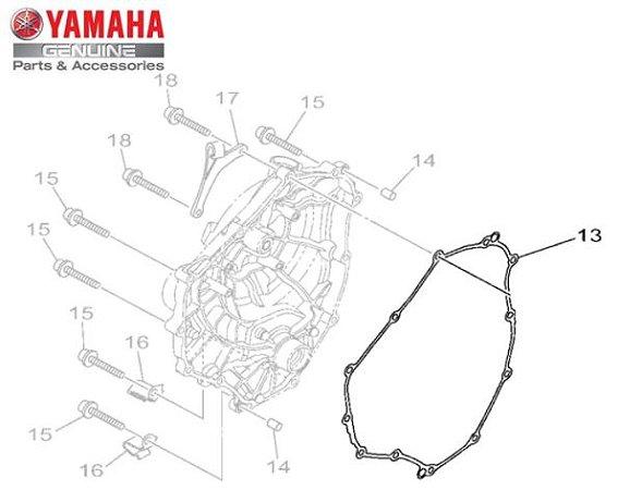 JUNTA DA TAMPA DIREITA DO MOTOR PARA MT-07 ORIGINAL YAMAHA