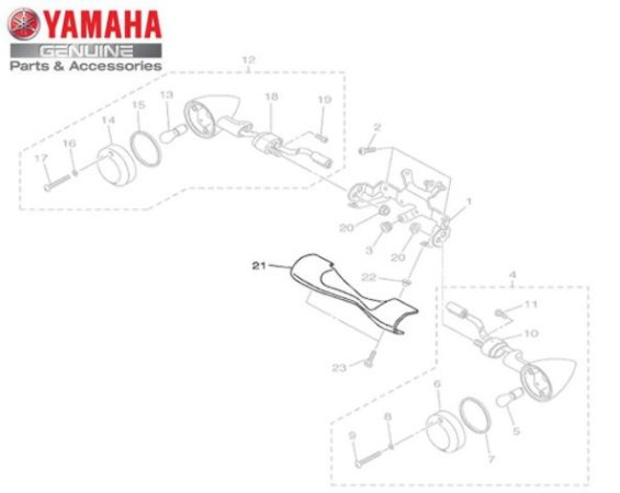 TAMPA EXTERNA DO GARFO DIANTEIRO PARA XVS950 MIDNIGHT STAR ORIGINAL YAMAHA