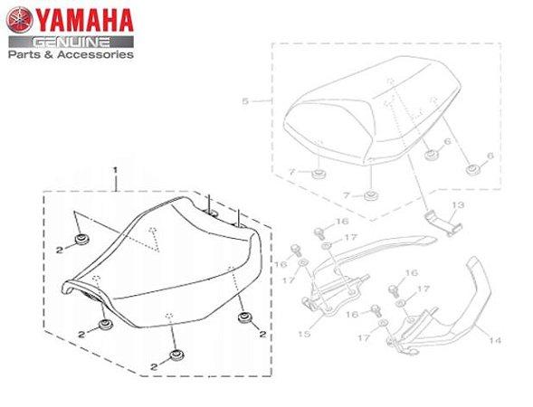 BANCO DO MOTORISTA PARA FZ25 NOVA FAZER 250 ABS 2018 A 2021 ORIGINAL YAMAHA
