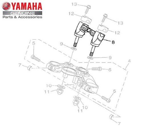 FIXADOR INFERIOR DO GUIDAO PARA MT-07 ORIGINAL YAMAHA