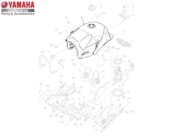 TANQUE DE COMBUSTIVEL PARA FAZER 250 2012 A 2014 ORIGINAL YAMAHA
