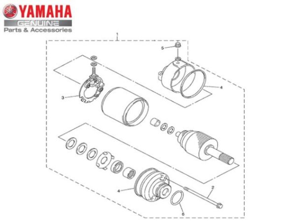 MOTOR DE PARTIDA COMPLETO PARA XJ6-N E XJ6-F ORIGINAL YAMAHA
