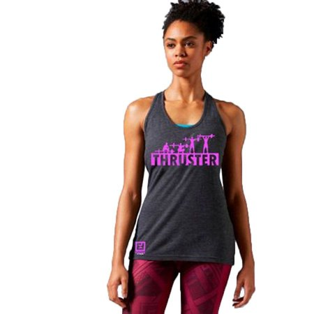 REGATA FEMININA THRUSTER CINZA E ROSA - ENFORCE FITNESS