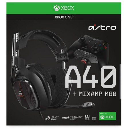 Headset ASTRO Gaming A40 TR + MixAmp M80 Gen 4 para Xbox Series, Xbox One
