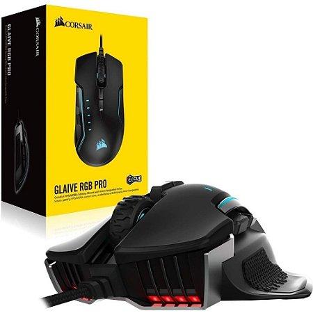 Mouse Gamer Corsair Gaming Glaive Pro Rgb Alumínio 18.000 Dpi Óptico