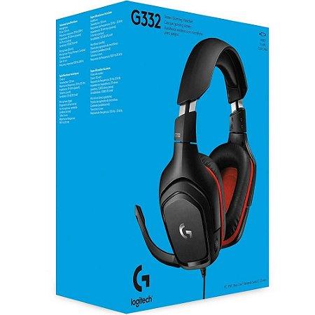 Headset Fone Gamer Logitech G332, Stereo, Drivers 50 Mm  Multi-plataforma