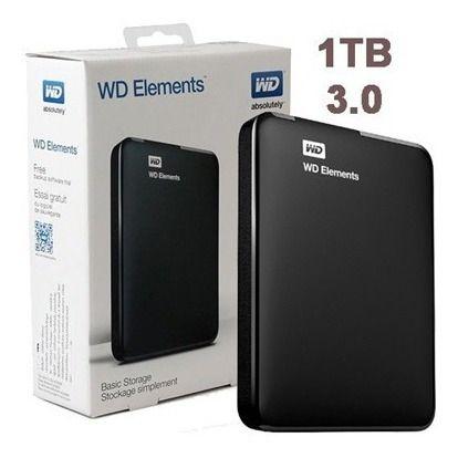 D WD Externo Portátil Elements USB 3.0 1TB