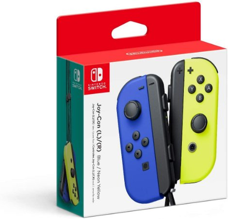 Controle Joy Con Nintendo Switch Par Azul e Amarelo