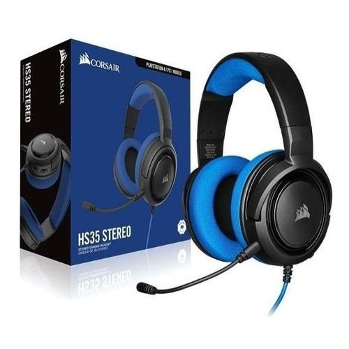 Headset Corsair HS35 Gaming Blue PC, PS4, XBOX One, Switch