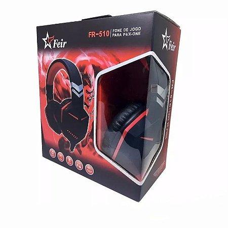 Headset Feir Gamer Ps4/One FR-510  Vermelho