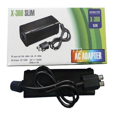 Fonte Xbox 360 Slim 2 Pinos Bivolt 110/220v
