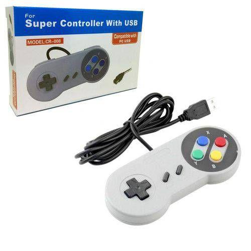 Controle Super Nintendo Snes Joystick Usb