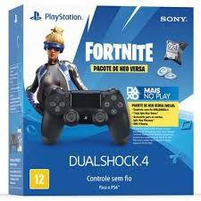 Controle PS4 Preto Fortnite