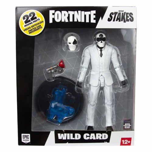 BONECO ARTICULADO FORTNITE WILD CARD BLACK