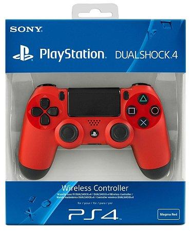 Controle Dualshock 4 (Vermelho) - PS4