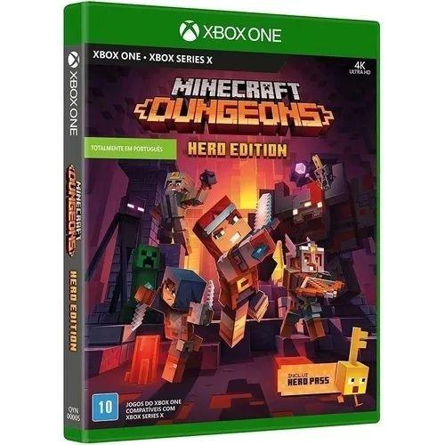 Game Minecraft Dungeons - Hero Edition - em português - Xbox One