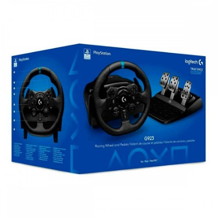 Volante Logitech G923 Trueforce PS4, PS5 e PC