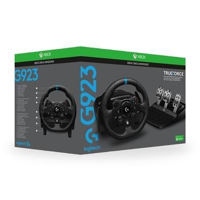 Volante Logitech G923, Xbox Series X, Xbox One, PC com Force Feedback TRUEFORCE