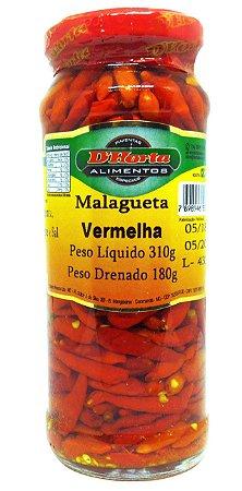 Pimenta Malagueta Vermelha conserva 310 gr