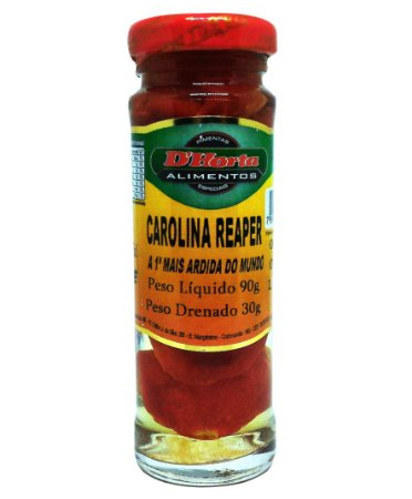 Pimenta Carolina Reaper em conserva 90 gramas
