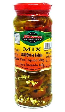 Mix Jalapeno em Rodelas 350 gramas