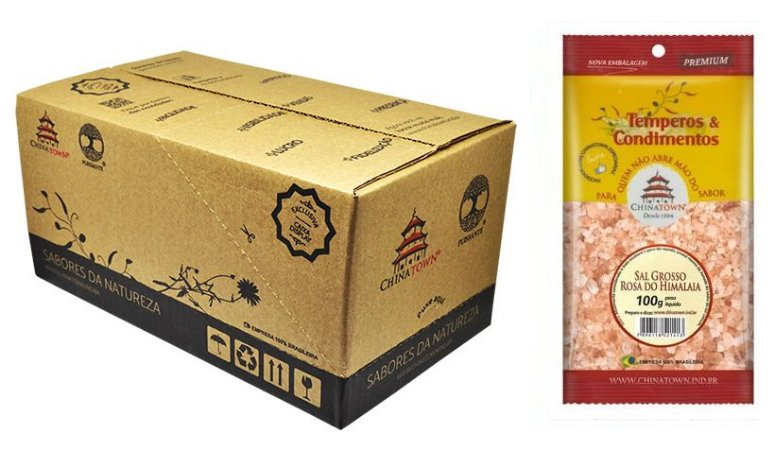 Sal Grosso Rosa do Himalaia 100 grs - 20 unid caixa display