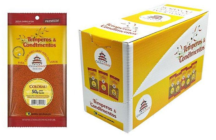 Colorau 50 gramas - 10 unidades na caixa display
