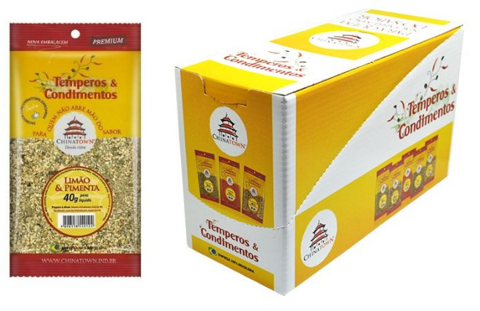 Limão & Pimenta 40 gramas - 8 unidades na caixa display
