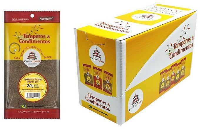 Pimenta Reino Preta Pó 20 grs - 10 unid caixa display