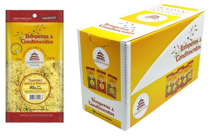 Tempero Arroz & Frango 40 grs - 8 unid caixa display