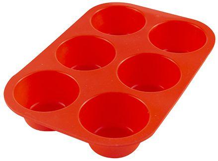 Forma Silicone p/ Cupcake 6 cavidades - 21,5 X 14,5 X 3CM