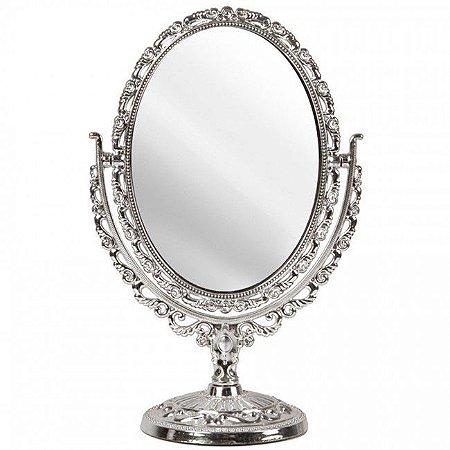 Espelho de Mesa Oval Dupla Face e Aumento