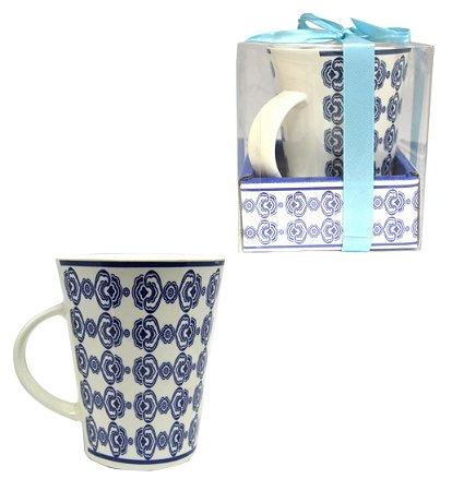 Caneca de Porcelana Azul 320 ml