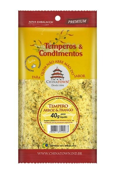 Tempero Arroz & Frango 40 gramas