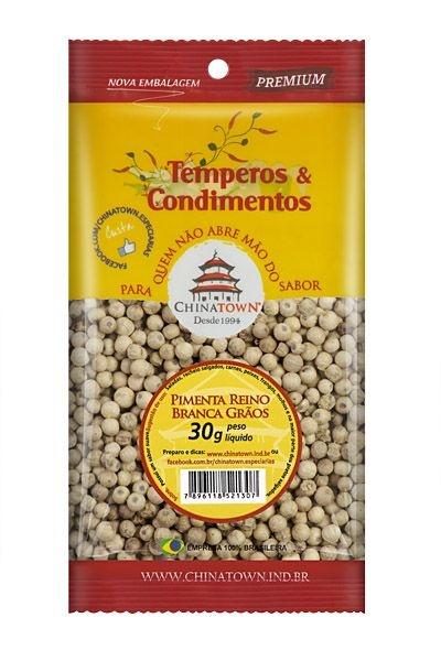 Pimenta Reino Branca Grão 30 gramas