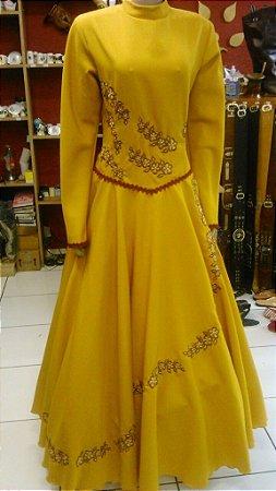 Vestido de Prenda Bordado Mostarda2 (42)