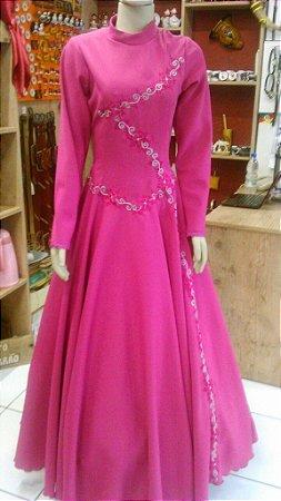Vestido de Prenda Bordado Pink2 (46)